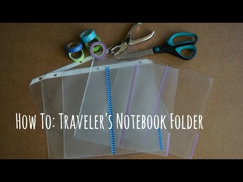How to: DIY Traveler's Notebook Clear Folder