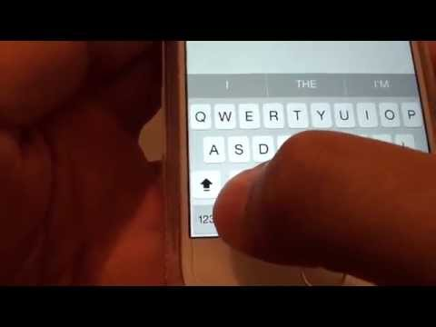 iPhone 6: How to Change Keyboard to Type All in Capital Case