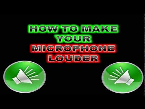 How to Make Your Microphone Louder Easy In 1 Minute TUTORIAL HD