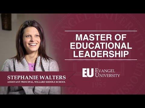 Masters of Education -- Educational Leadership Program -- Evangel University