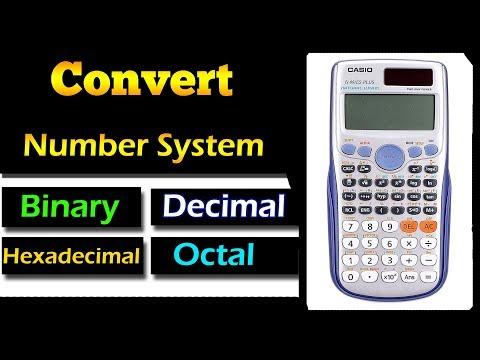 Number Base Conversion in Scientific Calculator (fx-991 ES plus)