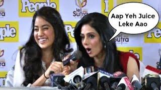 Sridevi Makes Fun Of Jhanvi Kapoor Hindi - Watch Video