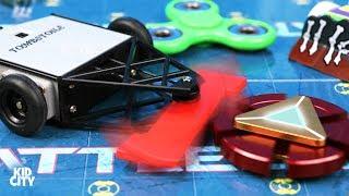 Fidget Spinners vs BattleBots + Rare Superhero Spinner Game for Kids!