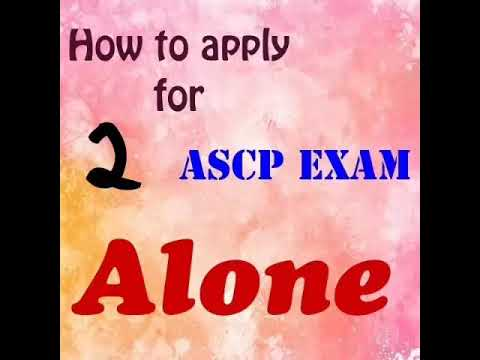 How to apply for ASCP Exam alone part 2
