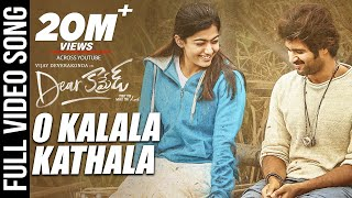 Dear Comrade Video Songs - Telugu | O Kalala Kathala Video Song | Vijay Deverakonda | Rashmika