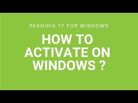 Readiris 17 - How to activate on Windows