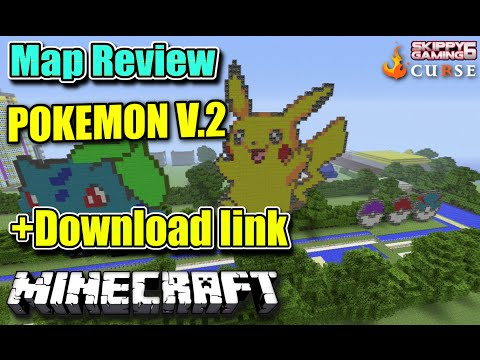 MINECRAFT - PS3 - POKEMON V.2 - MAP REVIEW + DOWNLOAD LINK ( PS4 )  SERVER UPDATE
