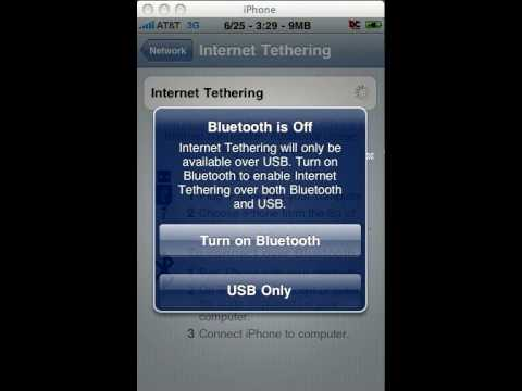 Enable Tethering on any iPhone 3.0 Tutorial (internet sharing hack) (3g or 3gs)