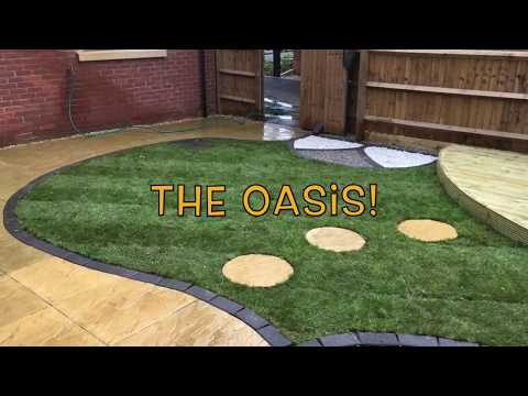 Curved Buff Riven Patio & Curved  Decking Project