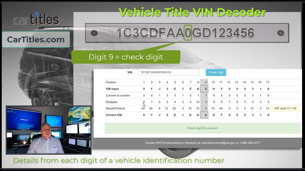 VIN decoder secret data
