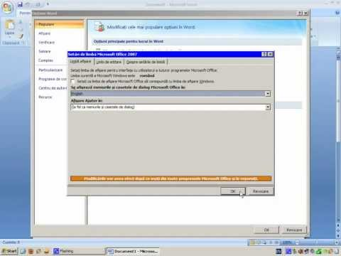 Cum sa schimbi limba la Office 2007 | How to change the language in Office 2007