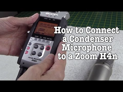 How to Connect a Condenser Microphone to a Zoom H4n and Get Stereo Sound