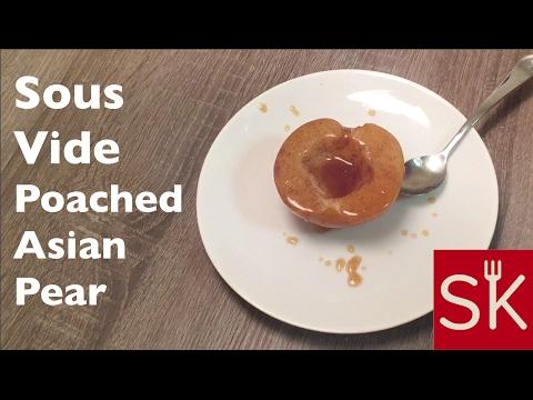 Sous Vide Poached Asian Pear | StudioKitchen