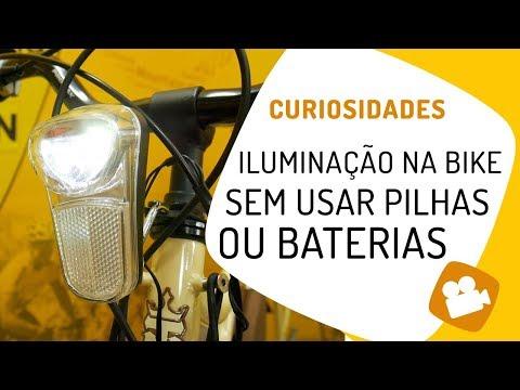 Iluminação na bicicleta sem pilhas ou baterias. Como funciona o dínamo. Pedaleria