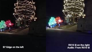 Compare Sony RX10 iii vs Samsung S7 Edge in low light 4K