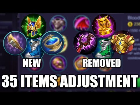 35 ITEMS ADJUSTMENTS NEW BUFFED NERFED AND REMOVED