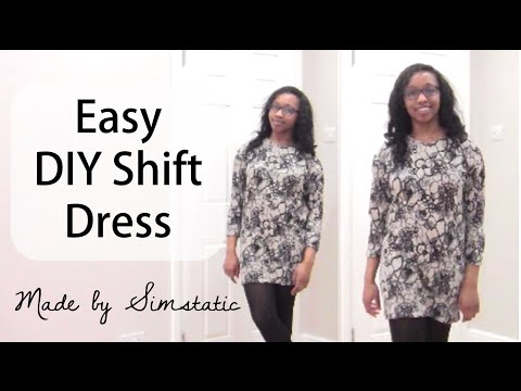 Easy DIY Dress | How to Make a Shift Dress (No Pattern)