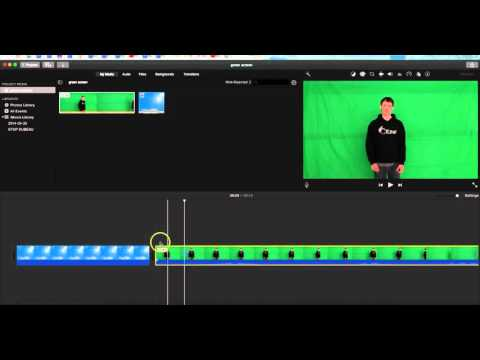 Imovie 2016- How to ADD Green Screen Effect in latest version of Imovie.