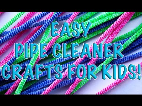 DIY: HOW To MAKE 4 UNIQUE HOMEMADE Creative Pipe Cleaner Crafts!