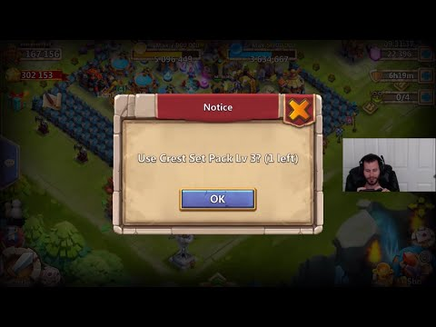Castle Clash Buy Gems Daily and Win Event For Arctica + Level 3 Random Crest Set