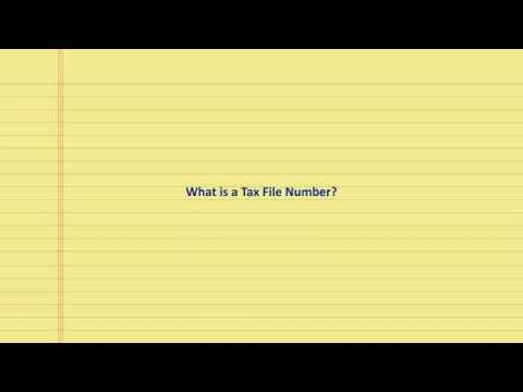 What is a tax file number?
