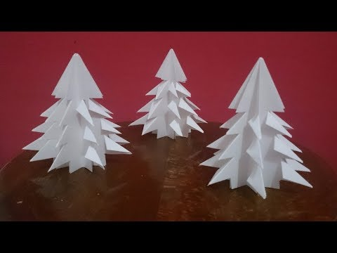 How To Make A Paper Christmas Tree - DIY