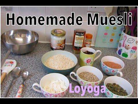 Easiest Homemade Muesli - Best Healthy Breakfast or Snack