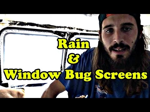 Van Life - DIY Camper Van Window Bug Screens - How I Sleep Windows Open & No Bugs