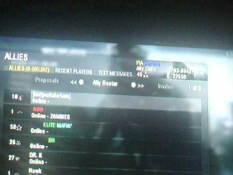 how to accept ally requests for call of duty black ops wii