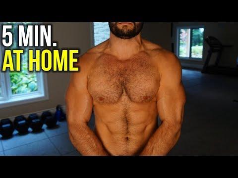 5 Min. BEAST Home Chest Workout (NO Weights!!)