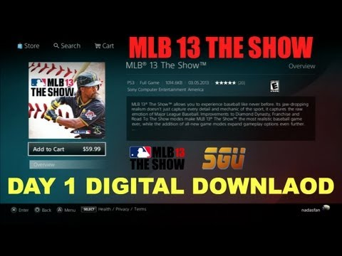 MLB 13 The Show - Day 1 Digital Download Available