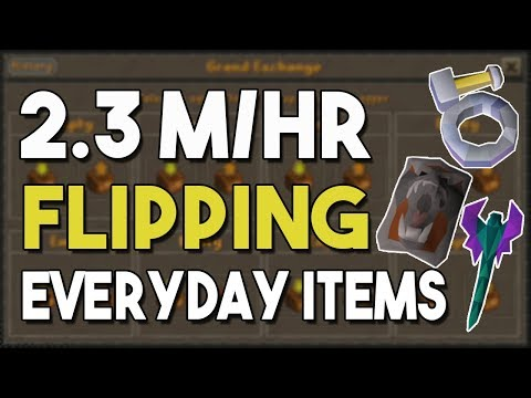 Easily Make 2.3M/HR By Flipping These Everyday Items! - Flipping and Money Making For 1 Hour! [OSRS]