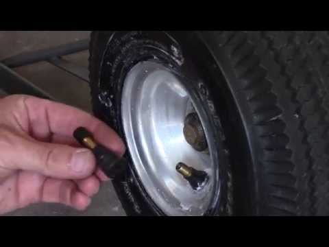 How to replace tire air valve stem - small tires