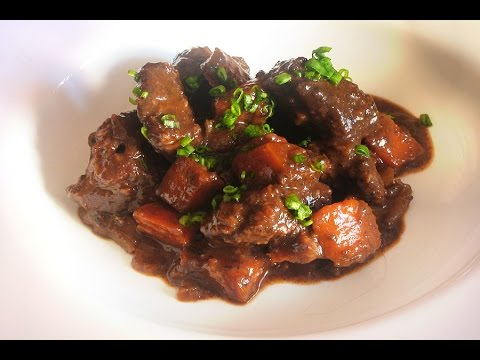 Beef Bourguignon II - Modern Restaurant Version of the Classic French Stew