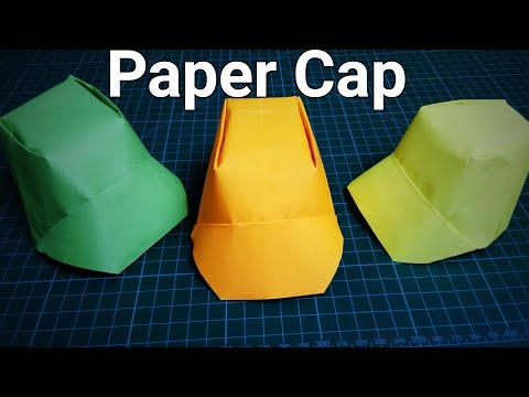 Paper Cap/Paper Hat | How To Make Origami Paper Cap | DIY Paper Cap |