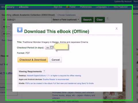 Using a Tablet to Download Library Ebooks