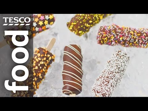 How to Make Frozen Banana Marshmallow Pops | Tesco Food