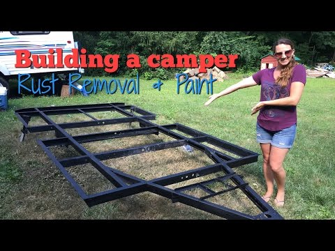Building a small RV   Rust removal and painting the frame