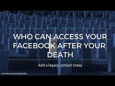 Access your facebook account after your death