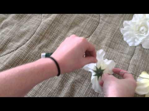 DIY Easy Silk Flower Garland