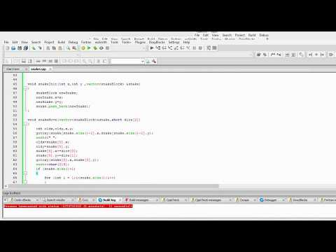 How to make an Easy C++ Snake Game Code::Blocks Source in description (Time-lapse)