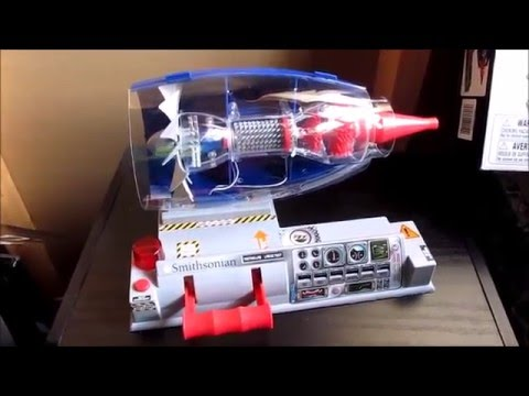Running Plastic Model Engine to Awesome!  Smithsonian Gas Turbine Model