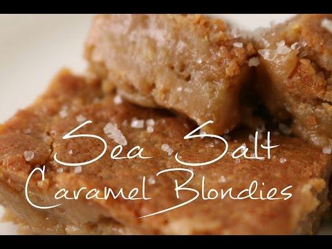 How to Make Sea Salt Caramel Blondies