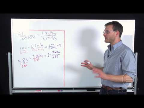 UniversityNow: College Algebra- Miles Per Gallon Conversion