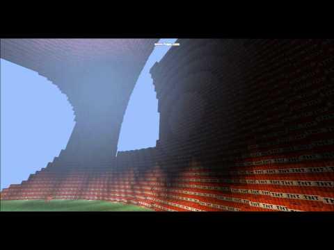 Minecraft - Huge hollow TNT sphere/ball (downloadable!)