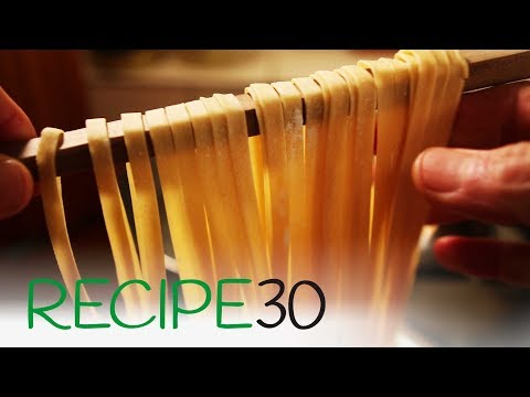 How to make fresh egg pasta from scratch