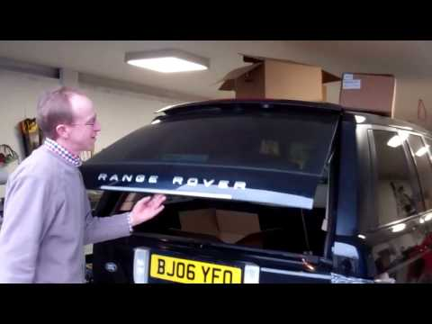 How to replace Range Rover L322 tailgate gas struts