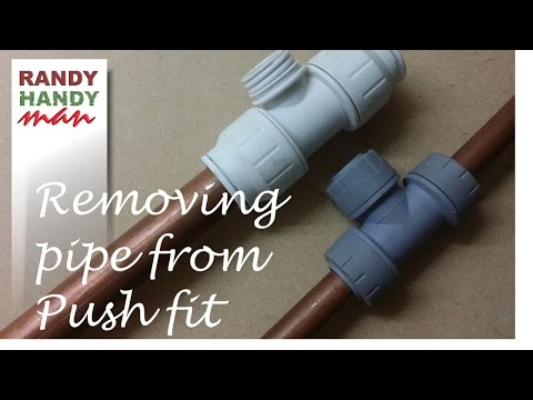 Removing pipe from push fit fittings video How to remove copper pipe from pushfit fittings.