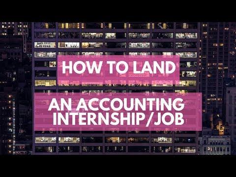 How to Land an Accounting Internship/Job