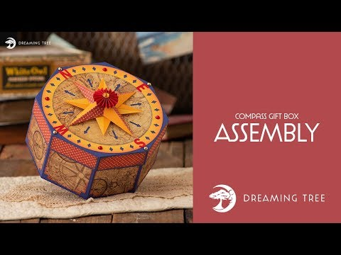 SVG File - Compass Gift Box - Assembly Tutorial